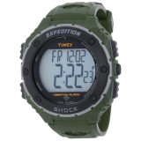 Timex Expedition LCD Shock Chrono Vib.Alarm Timer Green