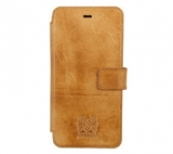Nic & Mel Slim stan bookcase iphone 6+ Cognac